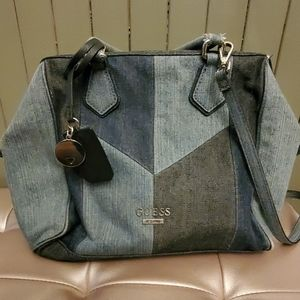 Guess jean material purse